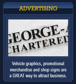 Advertising: Vehicle graphics, promotional merchandise and shop signs are a GREAT way to attract business. Brookfield Signs, sign makers Leicestershire