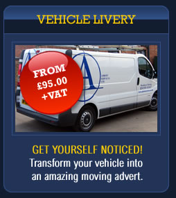 Vehicle Livery: From £95.00 + VAT - Get yourself noticed! Transform your vehicle into an amazing moving advert. Brookfield Signs sign makers Leicestershire